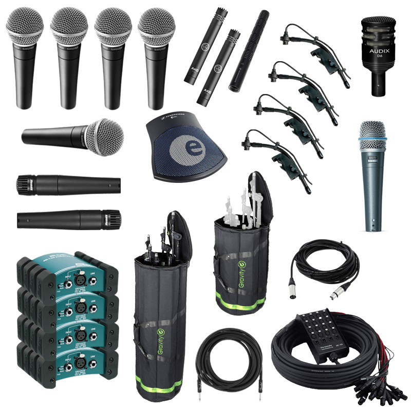 Band mic+accessories package
